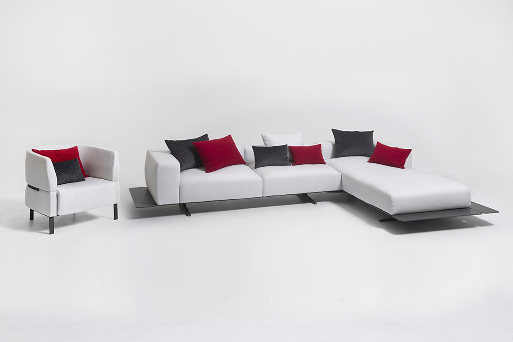 Eden - sofa dx + lounge sx + lounge