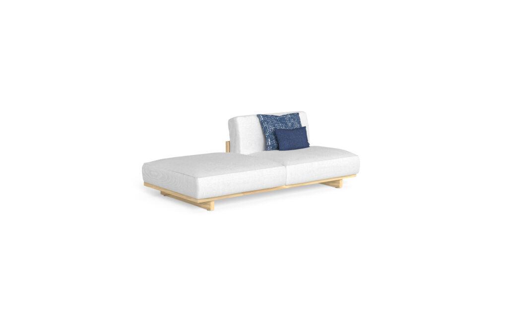 sofa + pouf dx